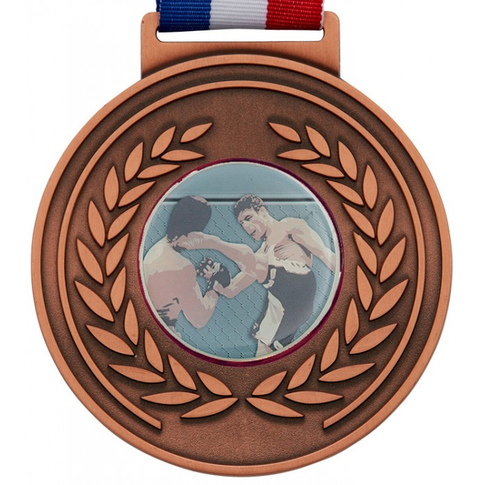 100MM MMA MEDAL & RIBBON - BRONZE OLYMPIC MEDAL