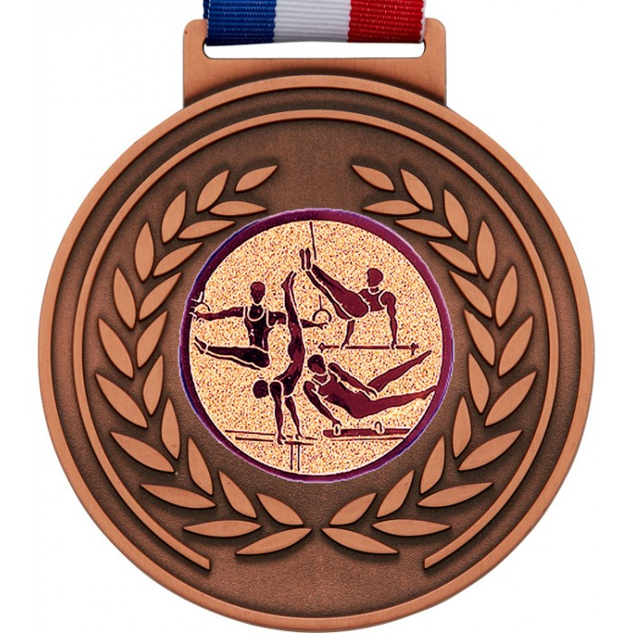 OLYMPIC GYMNASTICS MEDAL - 100MM x 6MM - BRONZE