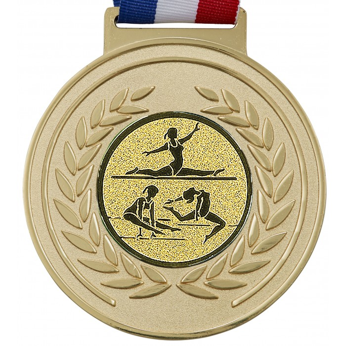 OLYMPIC GYMNASTICS MEDAL - 100MM x 6MM - GOLD