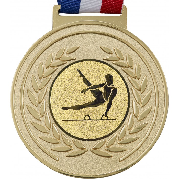 100MM x 6MM OLYMPIC GYMNASTICS MEDAL - GOLD