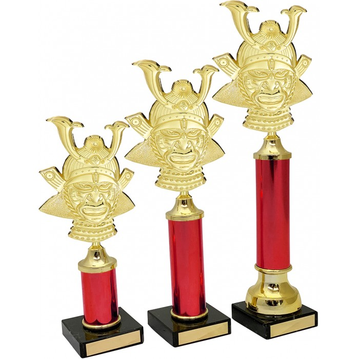 MARTIAL ARTS METAL  TROPHY  - AVAILABLE IN 3 SIZES