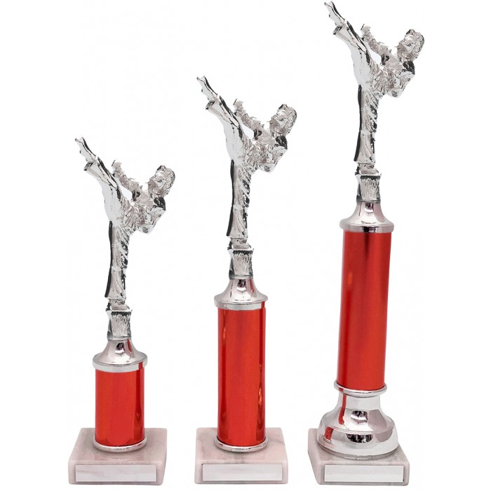 ROUNDHOUSE KICK METAL TROPHY  - AVAILABLE IN 3 SIZES