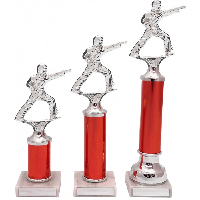 PUNCH STANCE METAL TROPHY  - AVAILABLE IN 3 SIZES