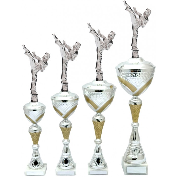 FEMALE MARTIAL ARTS METAL TROPHY  - AVAILABLE IN 4 SIZES
