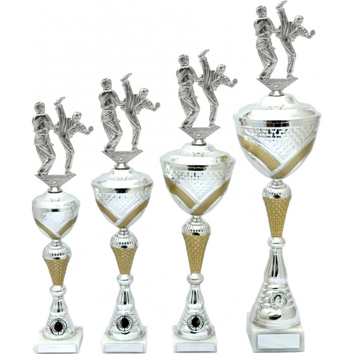 MARTIAL ARTS METAL TROPHY  - AVAILABLE IN 4 SIZES