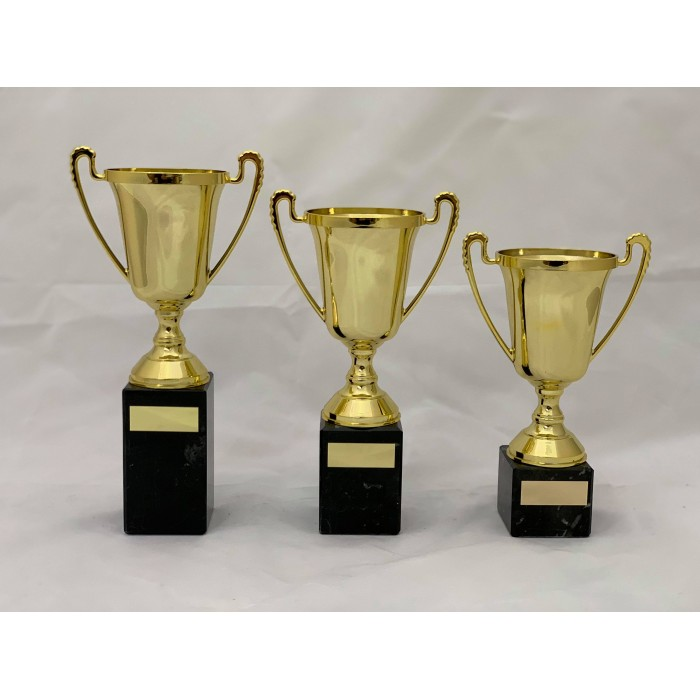 HANDLED CUP PLASTIC TROPHY - TROPHY - 3 SIZES