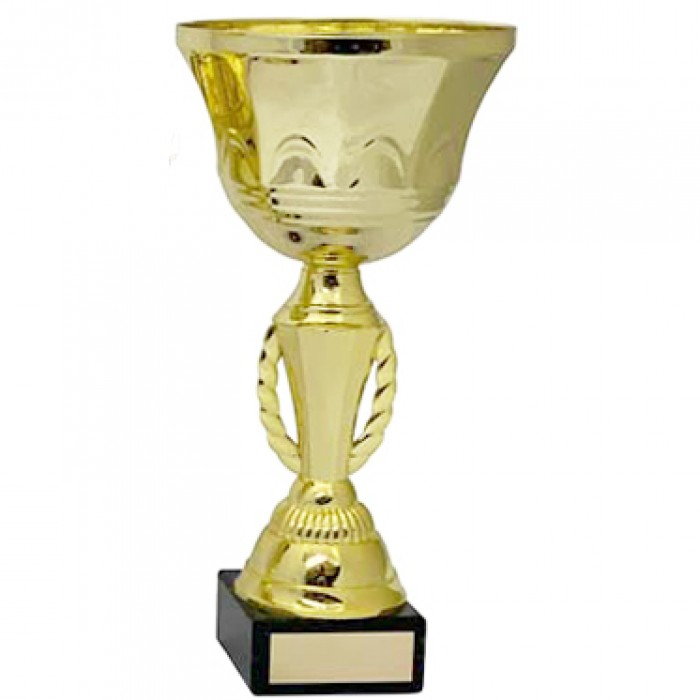 GOLD METAL WREATH TROPHY CUP-AVAILABLE IN 5 SIZES