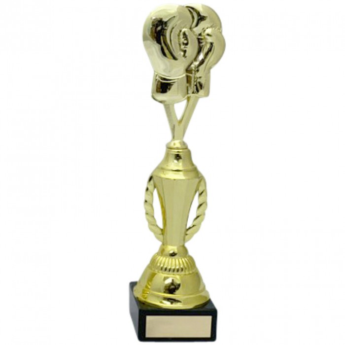 BOXING GLOVES METAL TROPHY  - AVAILABLE IN 4 SIZES