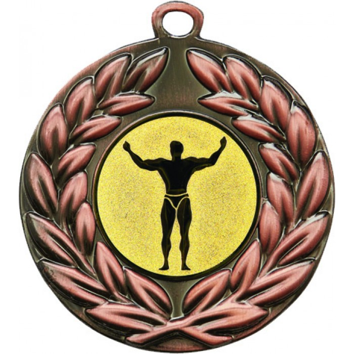 BRONZE 50MM BODYBUILDING MEDAL