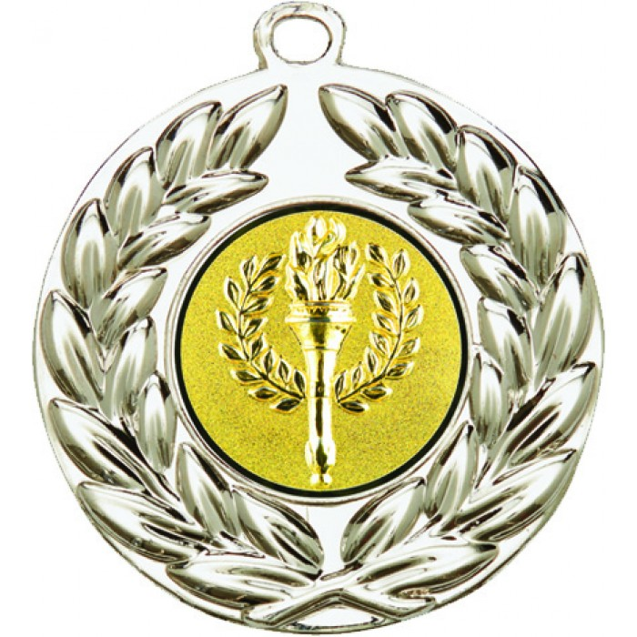 VICTORY MEDAL - CHOOSE YOUR OWN CENTRE - 50MM X 2MM- SILVER
