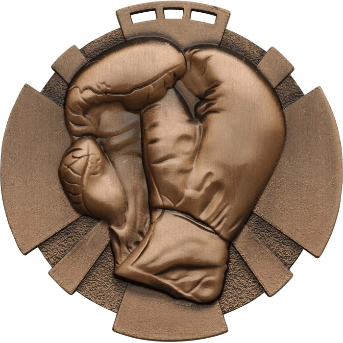 BRONZE 80MM BOXING MEDAL