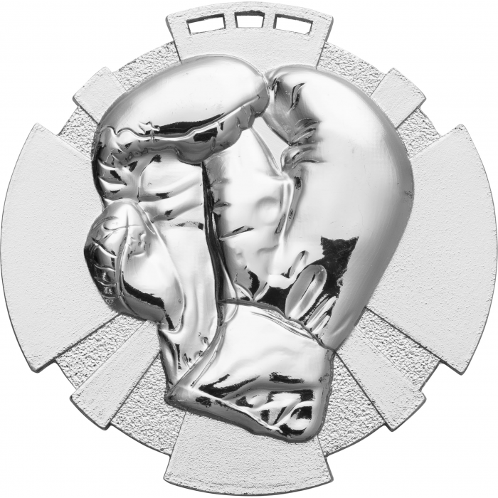 SILVER 80MM BOXING MEDAL