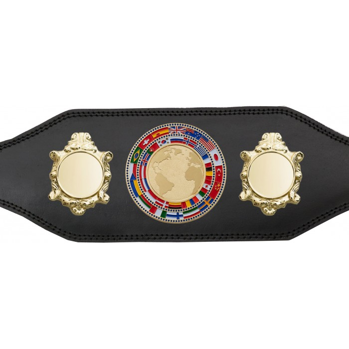 WORLD CHAMPIONSHIP BELT - BUD003/G/FLAG - AVAILABLE IN 4 COLOURS