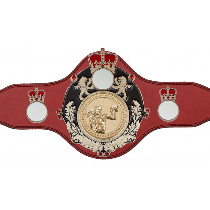 WOMEN'S BOXING CHAMPIONSHIP BELT-PLTQUEEN/B/S/FEMBOXG-4 COLOURS