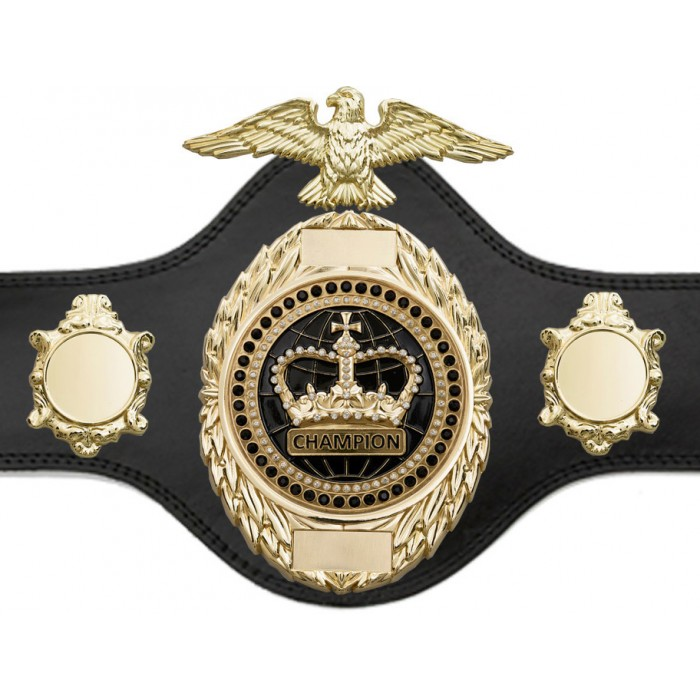BOXING TITLE BELT - PLT288/G/BLKGEM - AVAILABLE IN 4 COLOURS