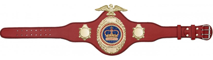 BOXING TITLE BELT - PLT288/G/BLUGEM - AVAILABLE IN 4 COLOURS