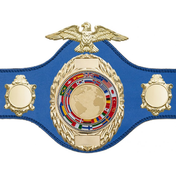 BOXING TITLE BELT - PLT288/G/FLAGG - AVAILABLE IN 4 COLOURS