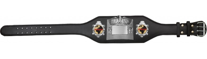 CUSTOM CHAMPIONSHIP BELT PLT299/S/CUSTOM - AVAILABLE IN 4 COLOURS