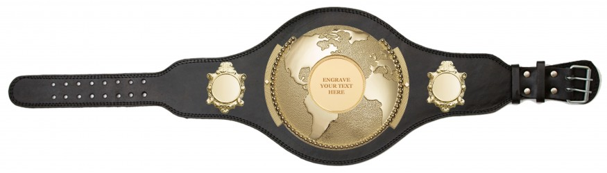 WORLD TITLE BELT - ENGRAVED - PLT309/G/BLGENGRAVE