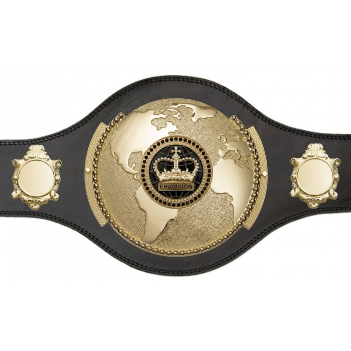 BOXING WORLD CHAMPIONSHIP BELT - PLT309/G/BLKGEM