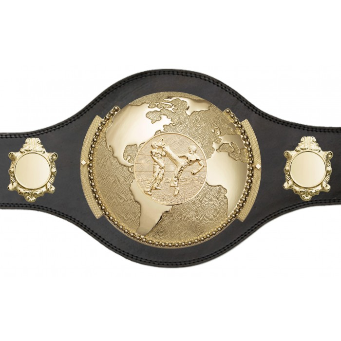WORLD KICKBOXING  CHAMPIONSHIP TITLE BELT - PLT309/G/KBOG