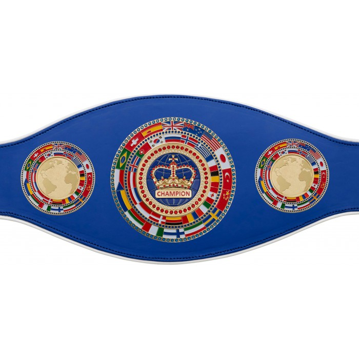CHAMPIONSHIP BELT PROFLAG/FLAG/G/BLUECRWN - AVAILABLE IN 7 COLOURS