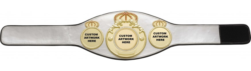 CUSTOM CHAMPIONSHIP BELT PROLION/G/CUSTOM - AVAILABLE IN 8 COLOURS