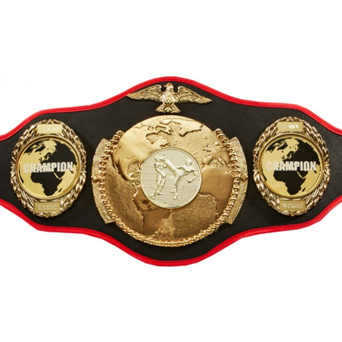 KICKBOXING CHAMPIONSHIP BELT PRO018/KBOG/WLDCHMP/G IN 6 COLOURS