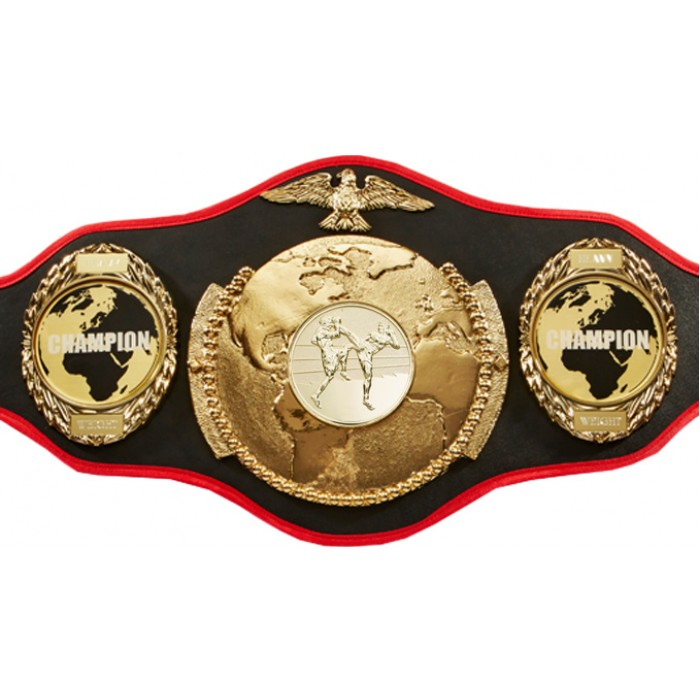 THAI BOXING WORLD CHAMPIONSHIP BELT-PRO018/TBOG/WLDCHMP/G-6 COLOURS