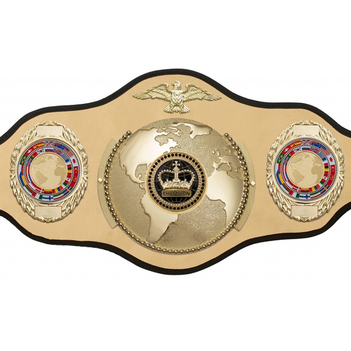 CHAMPIONSHIP BELT PRO018/BLKCRWN/G/FLAG/G IN 6 COLOURS