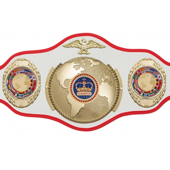 WORLD TITLE BELT PRO018/BLUCRWN/G/FLAG/G IN 6 COLOURS