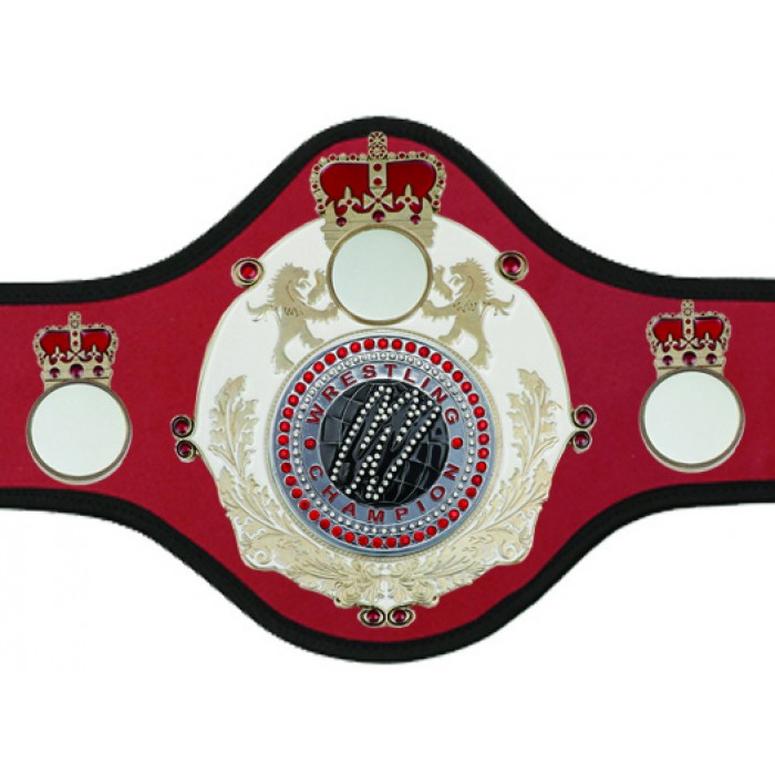 WRESTLING CHAMPIONSHIP BELT-QUEEN/W/S/WRESTGEM-10+ COLOURS