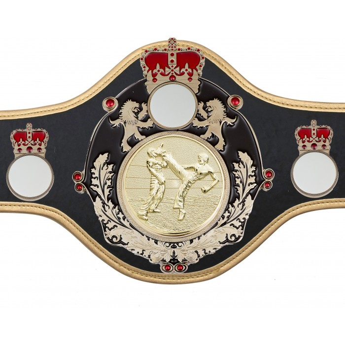 KICKBOXING CHAMPIONSHIP BELT-QUEEN/B/S/KBOG-10+ COLOURS