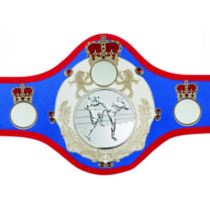 KICKBOXING CHAMPIONSHIP BELT-QUEEN/W/S/KBOS-10+ COLOURS