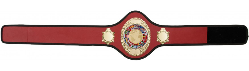 CHAMPIONSHIP BELT PRO286/G/WLDFLAGG - AVAILABLE IN 10+ COLOURS