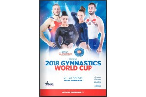 J.C.Trophies advert in the Gymnastics World Cup 2018 Official Programme