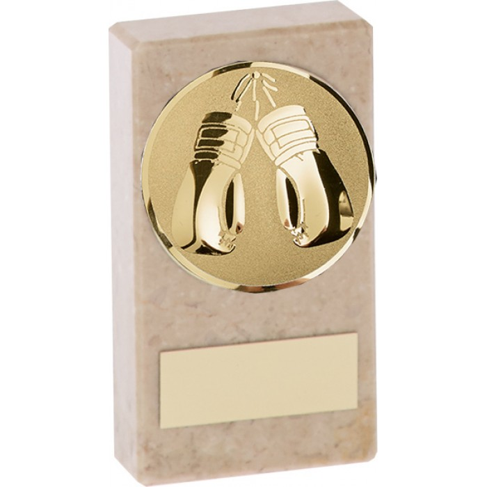 BUDGET MARBLE BOXING TROPHY  - AVAILABLE IN 2 SIZES