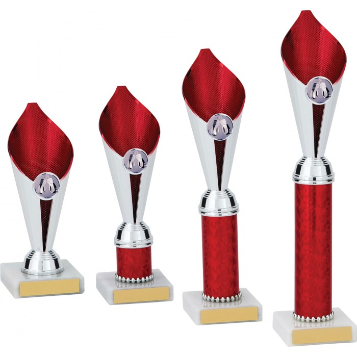 BOXING RED FLAME COLUMN TROPHY PLASTIC CUP