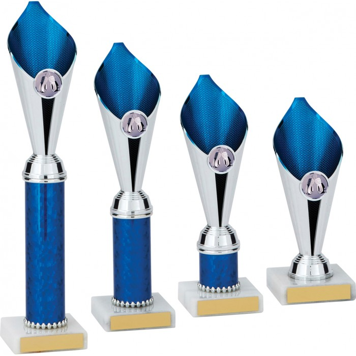 BOXING BLUE FLAME COLUMN TROPHY PLASTIC CUP