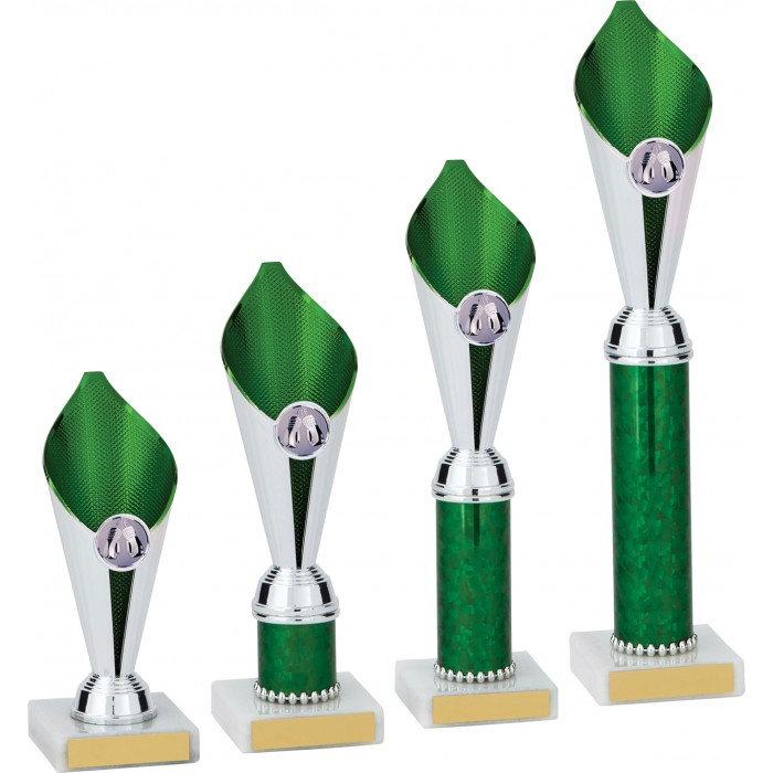 BOXING GREEN FLAME COLUMN TROPHY PLASTIC CUP