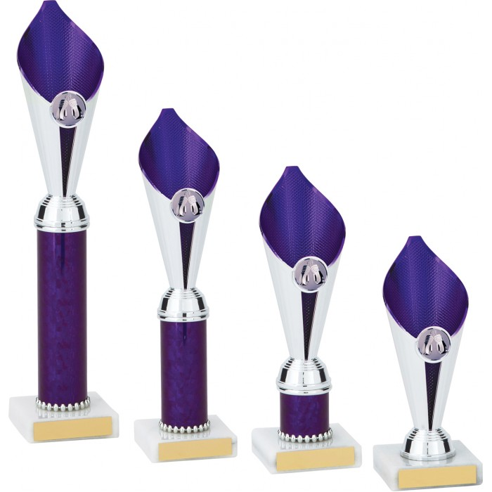 BOXING PURPLE FLAME COLUMN TROPHY PLASTIC CUP