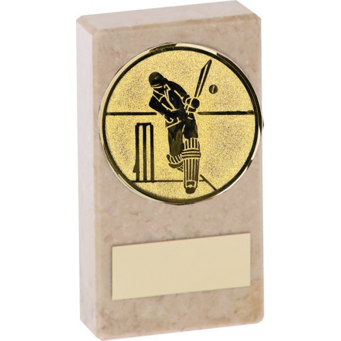 BUDGET MARBLE CRICKET TROPHY  - AVAILABLE IN 2 SIZES