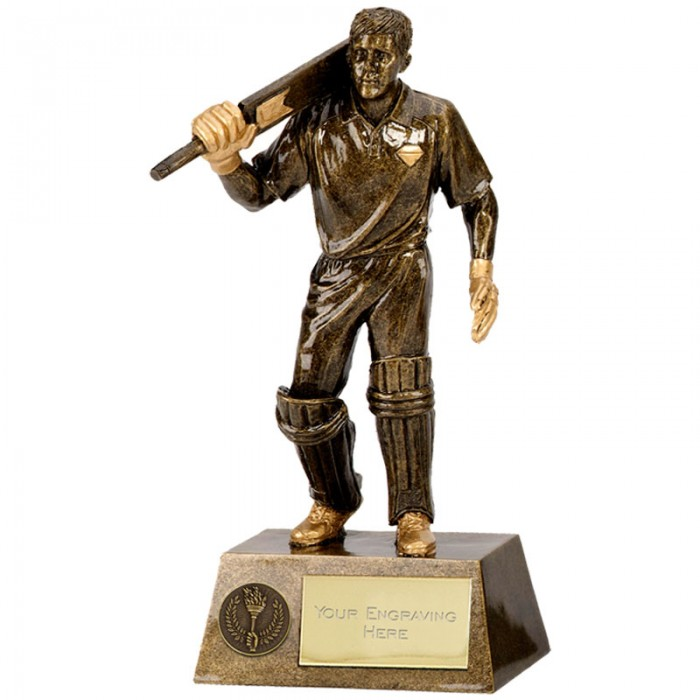 CRICKET RESIN BATSMAN TROPHY - (Available in 3 Sizes)