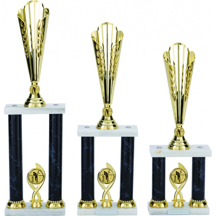 CRICKET TROPHY - AVAILABLE IN 6 DIFFERENT COLOURS - 3 SIZES