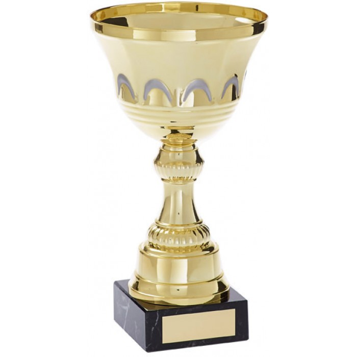 GOLD METAL TROPHY CUP-AVAILABLE IN 5 SIZES