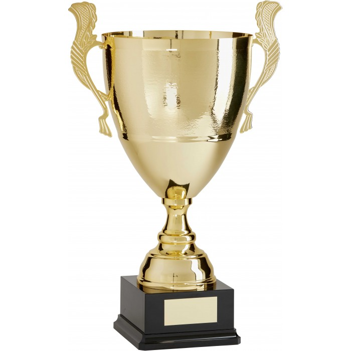 GOLD ITALIAN - HAMMERED METAL TROPHY CUP - 3 SIZES TO 23''