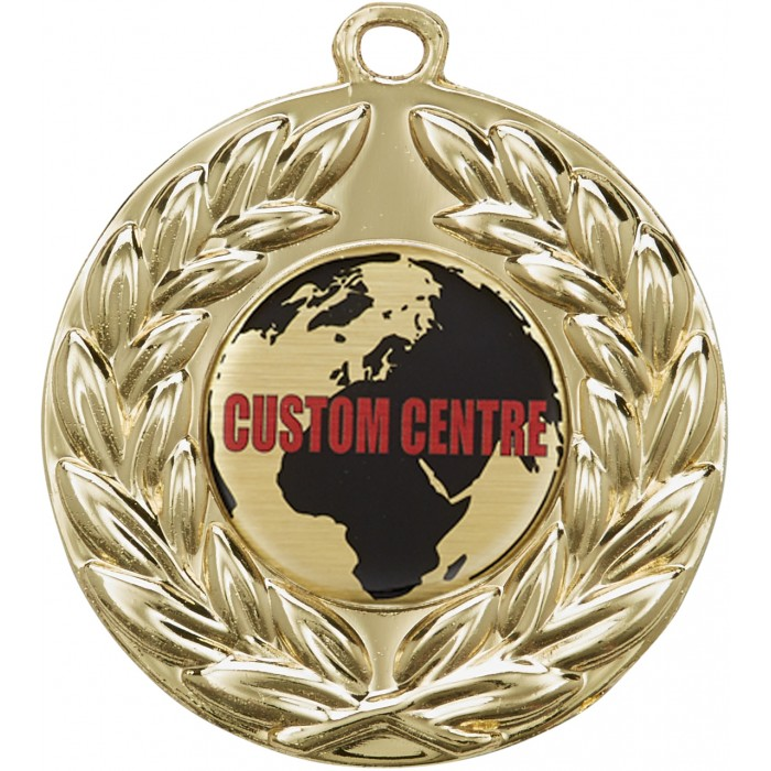 50MM CUSTOM CENTRE BUDGET MEDAL   GOLD, SILVER OR BRONZE