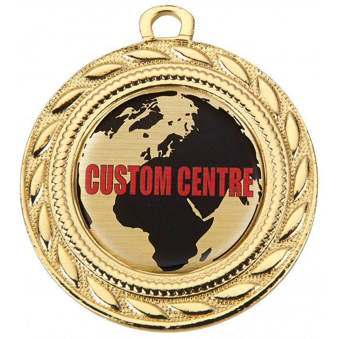 40MM CUSTOM CENTRE BUDGET MEDAL   GOLD, SILVER OR BRONZE