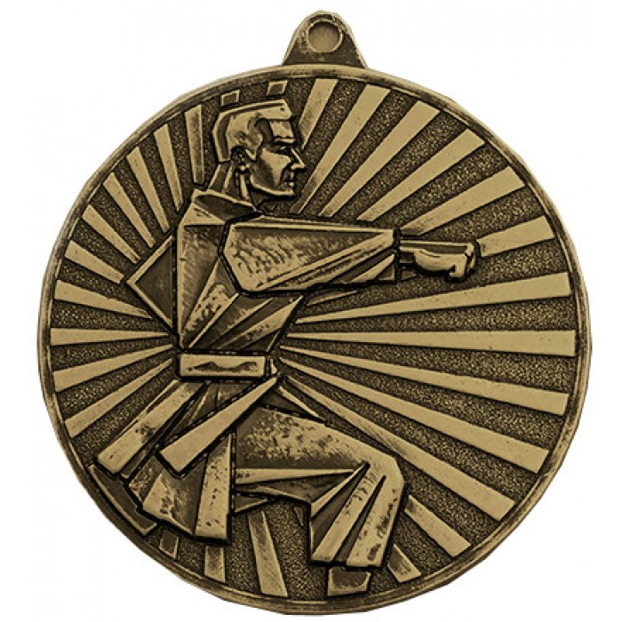 60MM KARATE  MEDAL - AVAILABLE IN GOLD, SILVER, BRONZE