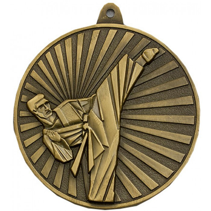 60MM X 5MM KARATE MEDAL - AVAILABLE IN GOLD, SILVER, BRONZE